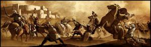 A Battle in sepia