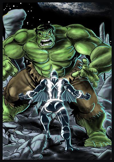 Hulk VS BlackBolt color 72 by drvce