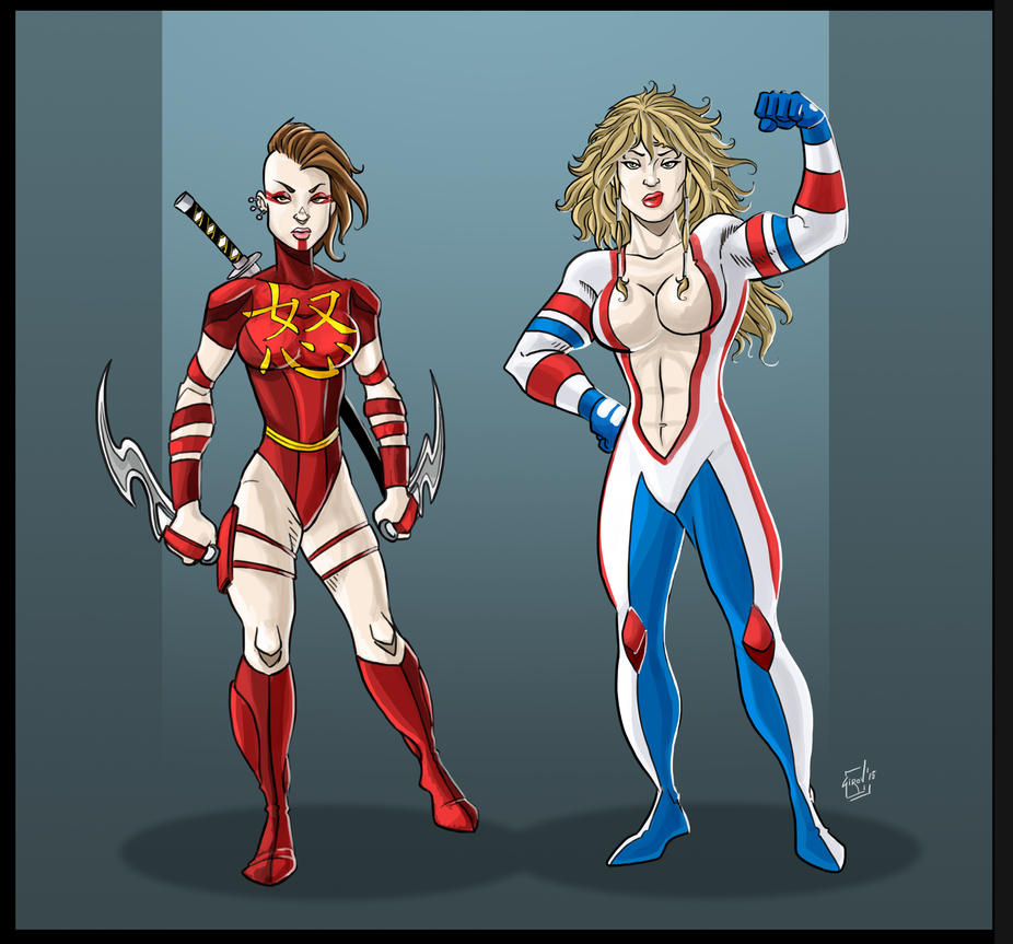 Fury and Justice Girl Redesigned by drvce