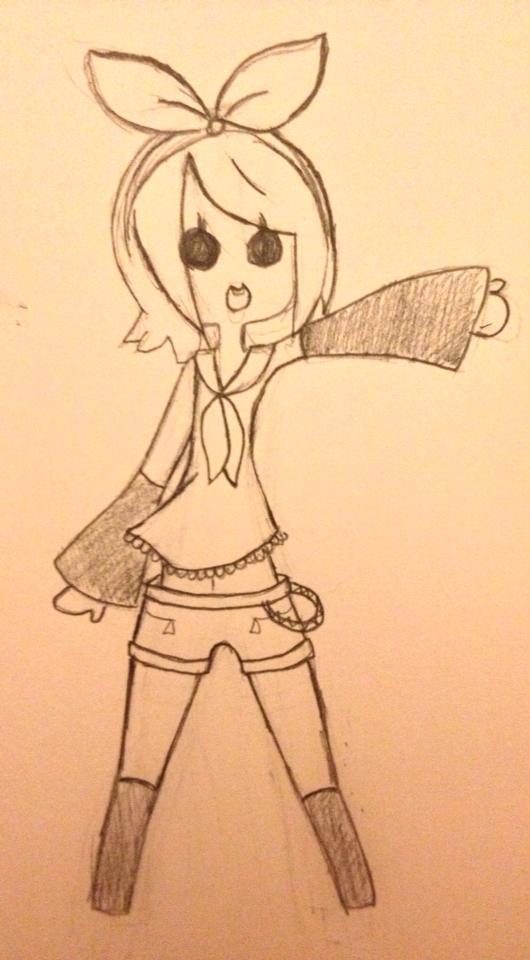 Cartoon Rin by VUGNA
