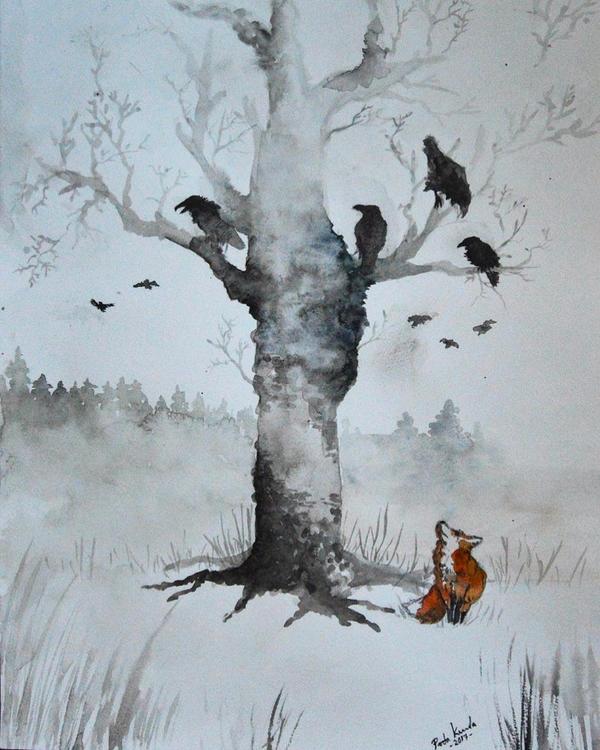 Ravens and fox by Pirata1987