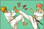 Naruto Uzumaki and Sakura Haruno - Karate Training