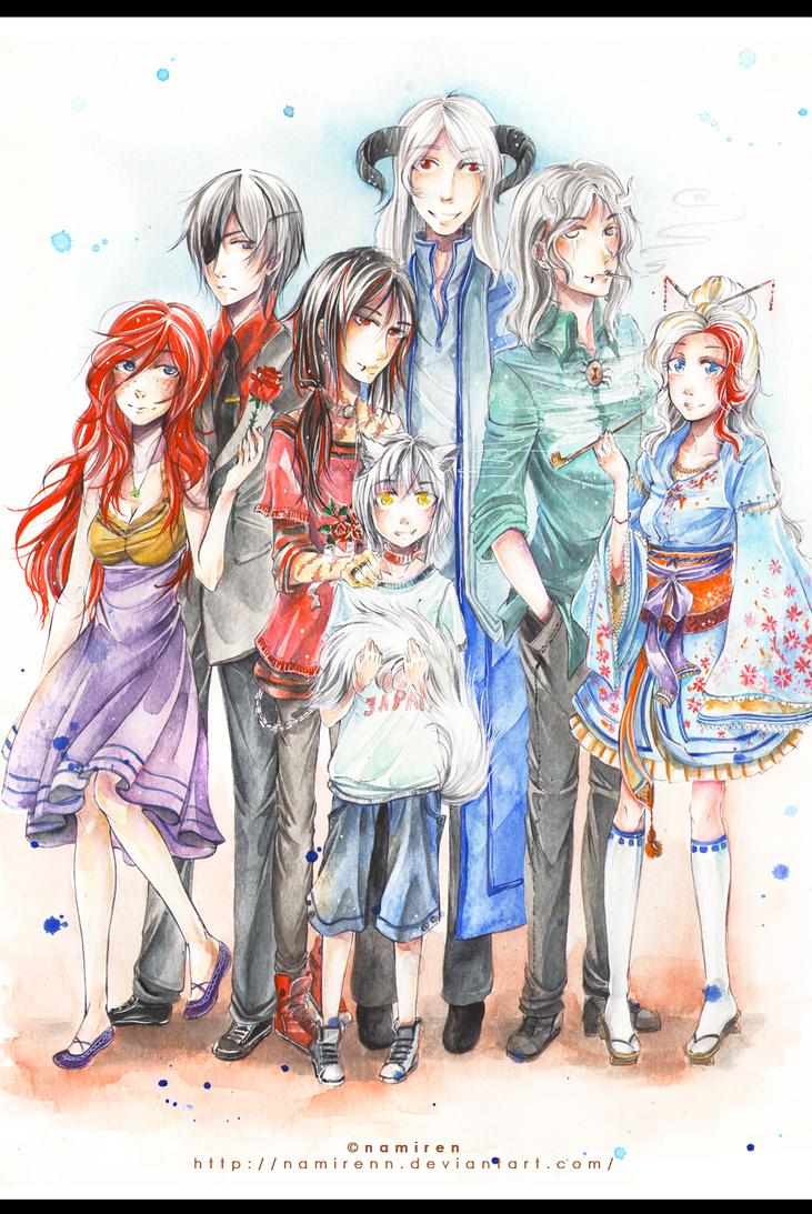commission - Family Portrait by namirenn on DeviantArt