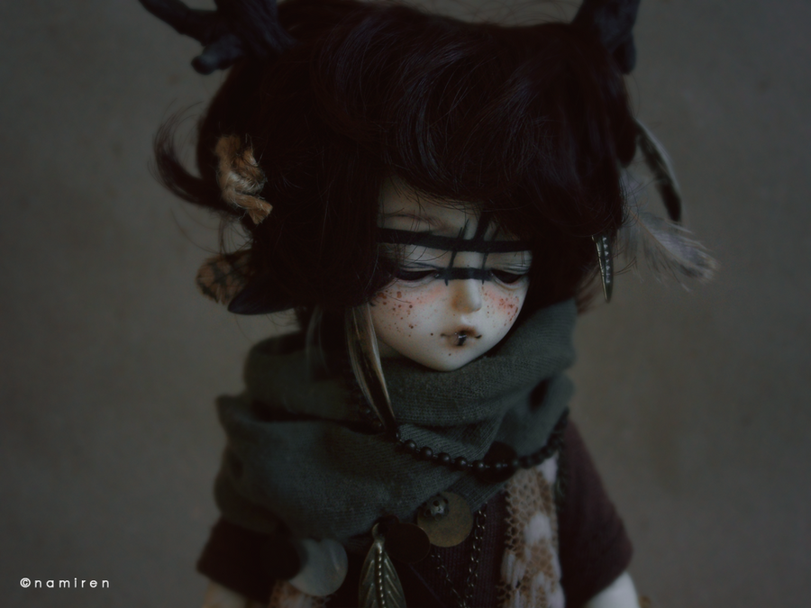 Little black deer boy by namirenn