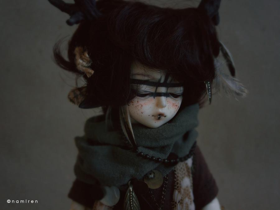 Little black deer boy by namirenn