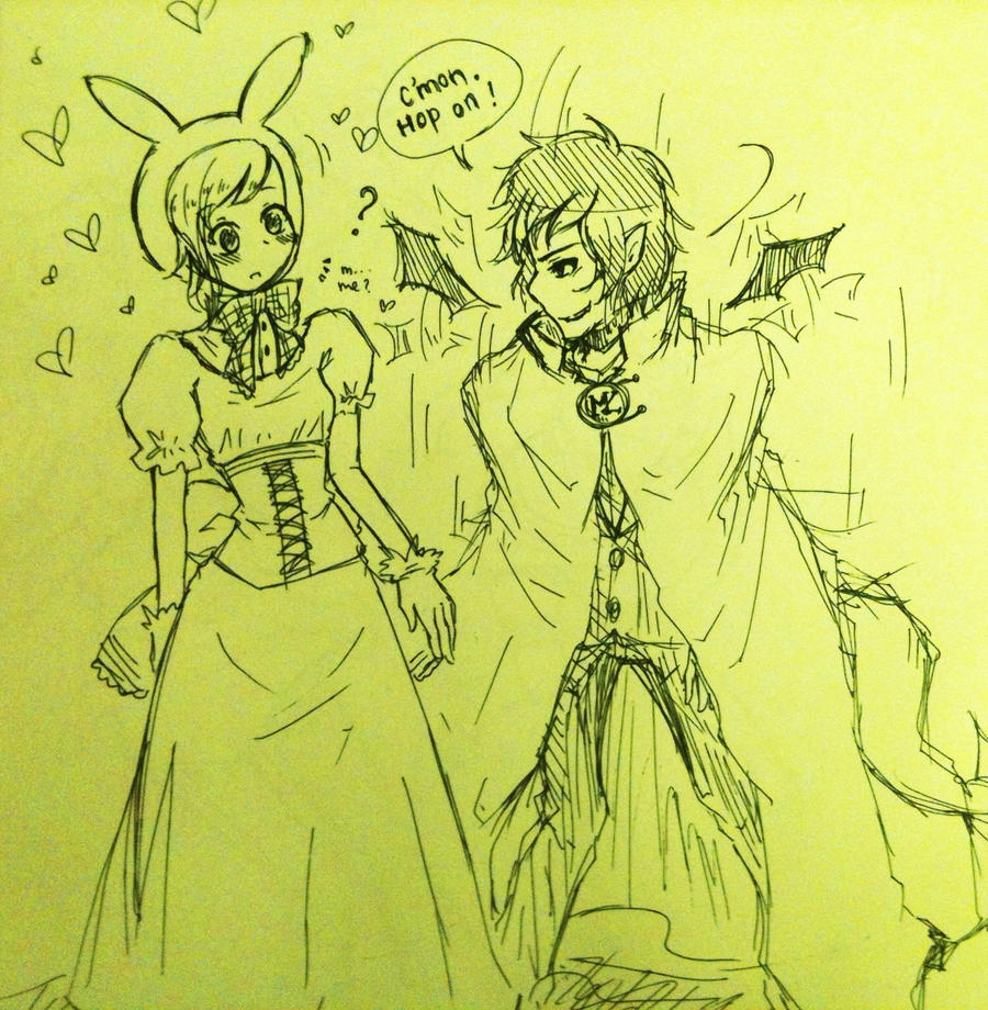 Marshall Lee and Fionna Adventure Time doodle by ...