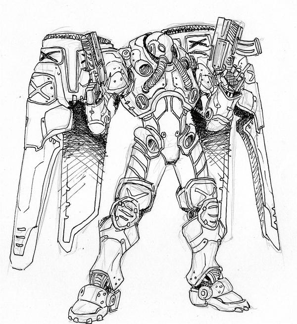 Starcraft reaper by emacamu on deviantart for Starcraft coloring pages