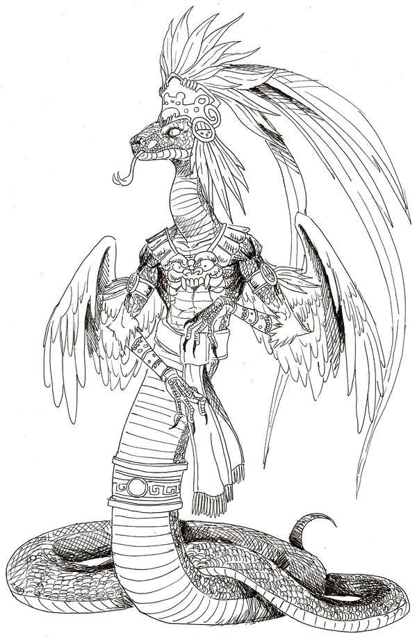 Quetzalcoatl by EmaCamU on DeviantArt