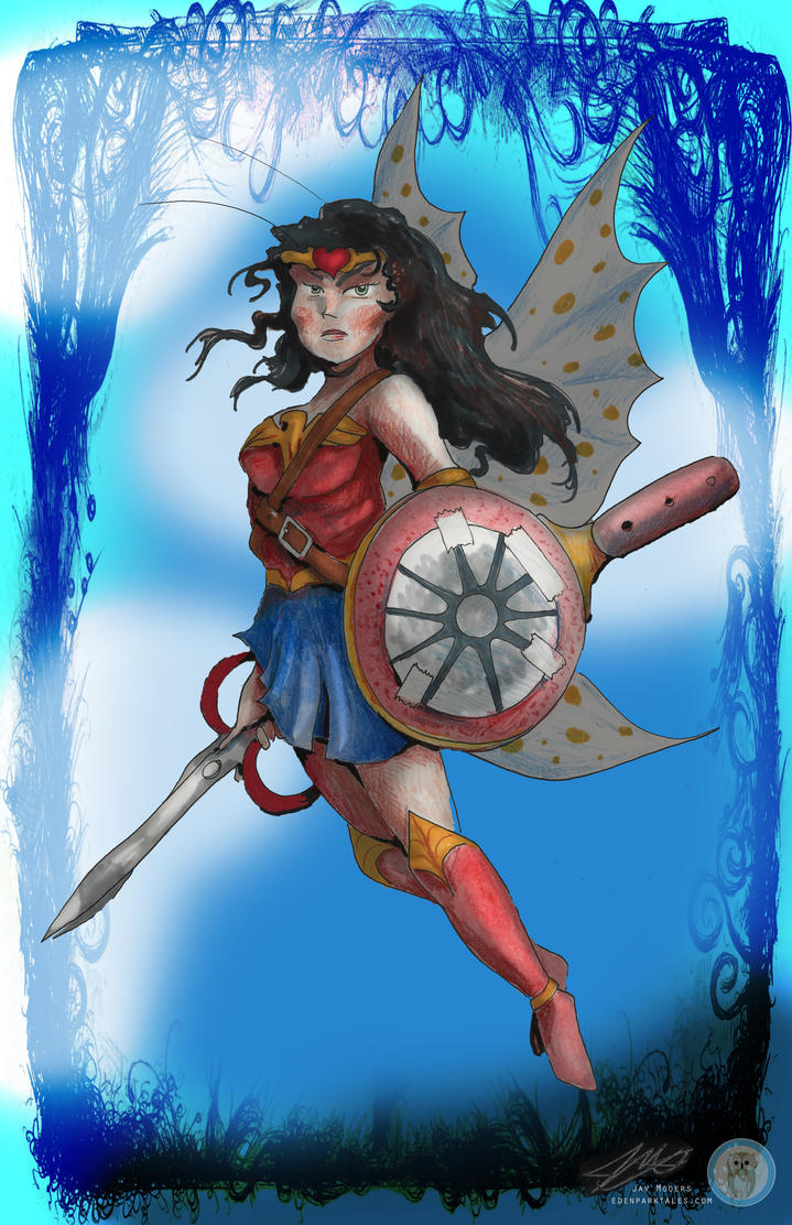 Wonder Woman Conart by Jaymooers