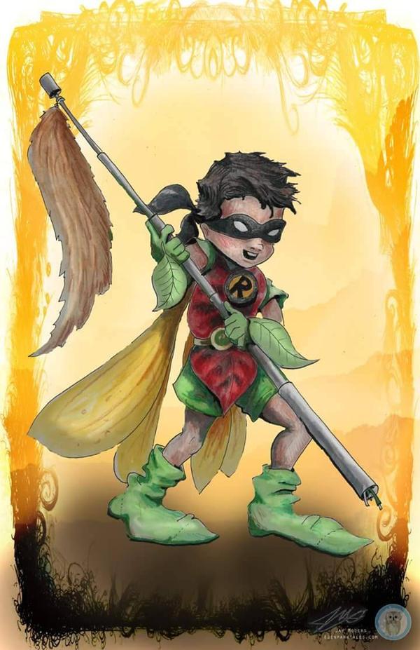 Robin conart by Jaymooers