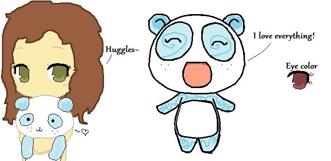 New panda OC! by CrimsonBurst