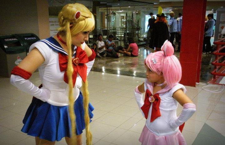 Sailor Moon and Sailor Chibi Moon by Chiibiimoon