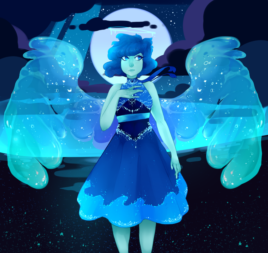 our ocean queen has risen i drew other wings before but they looked like bald chicken wings so i had to re-do them