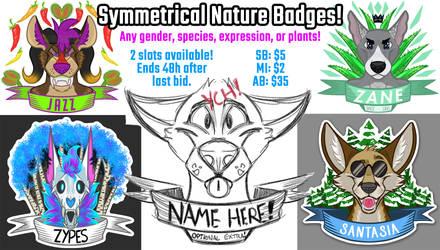 [AUCTION] Symmetrical Nature Badges!
