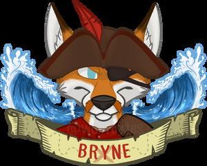 Symmetrical Badge - Badge - Bryne the Pirate Fox