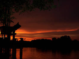 Japanese sunset by Phesarnion