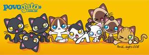PovoGato mascots