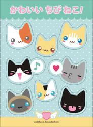 Cute little Kitties stickers