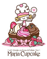 Maria Cupcake notebook cover by analage