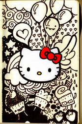 moleskine plus hello kitty plus sharpie by analage
