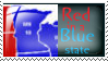 Stamp: Red in a Blue State by JoyWillCome