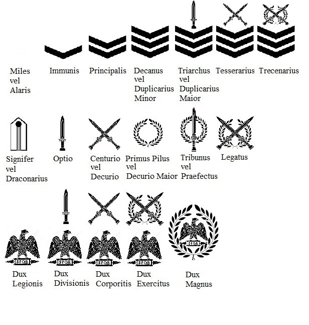 The ranks of the New Roman Army (concept) by Yuriy116 on DeviantArt