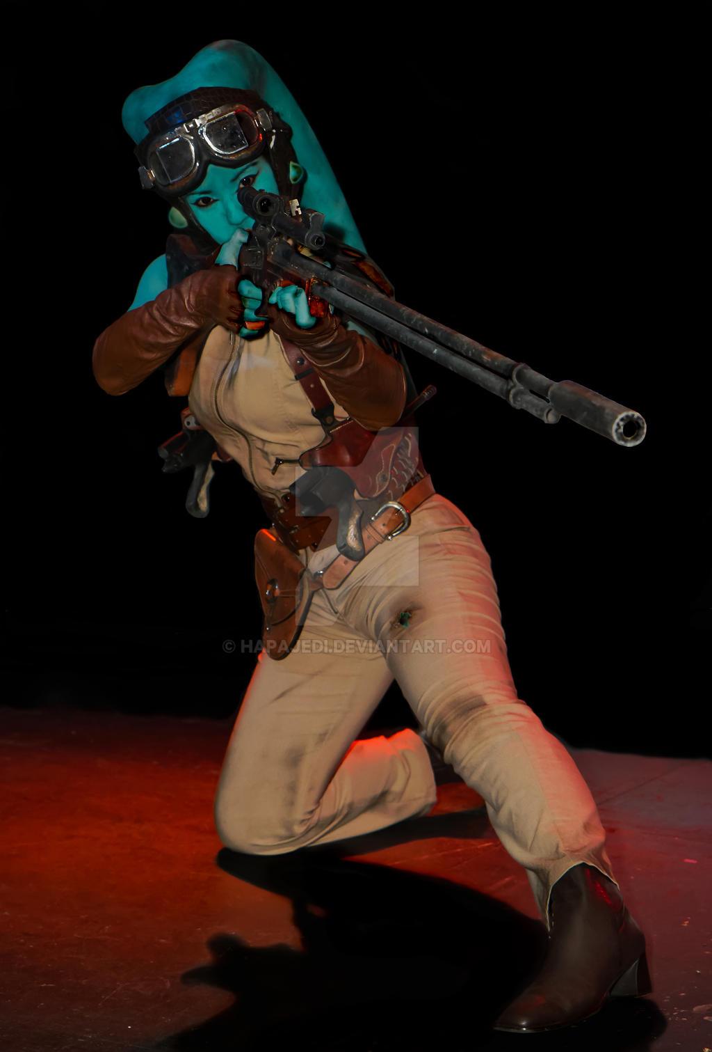 Twi'lek Bounty Merc Sniper by hapajedi