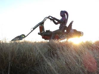 Swoop Chopper Silhouette by hapajedi