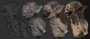 Sewer Creature Progress by Bruno-Camara