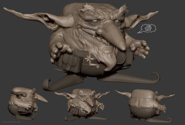 Dinkliflonk sculpt by Bruno-Camara
