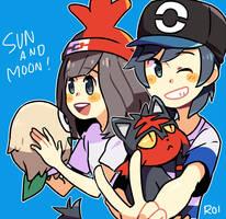 SUN AND MOON by Sandy-kun