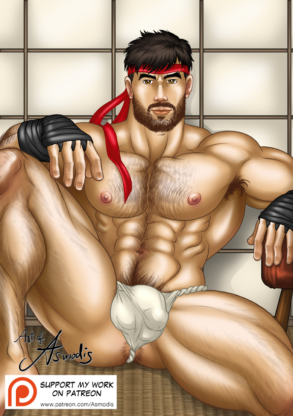 bearded bara Ryu by AsmodisArt