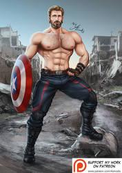 Captain America by AsmodisArt