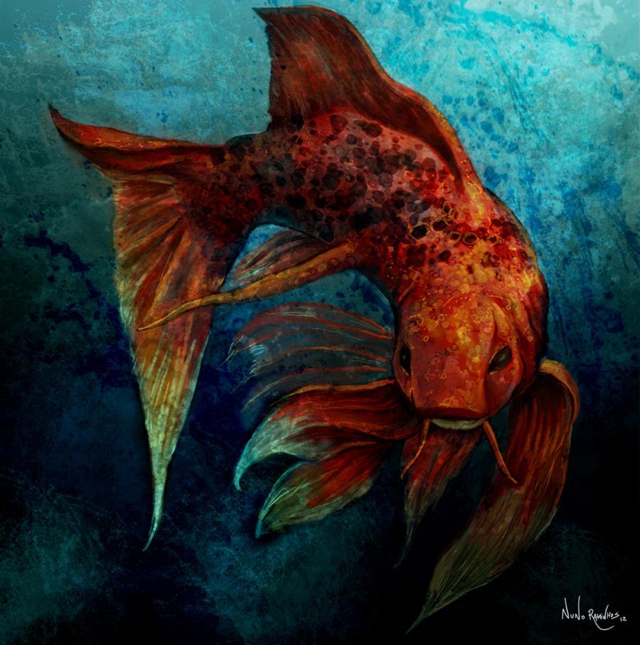Koi fish by nraminhos on deviantart for Koi fish art paintings