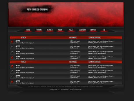 Red Styles Forum Design