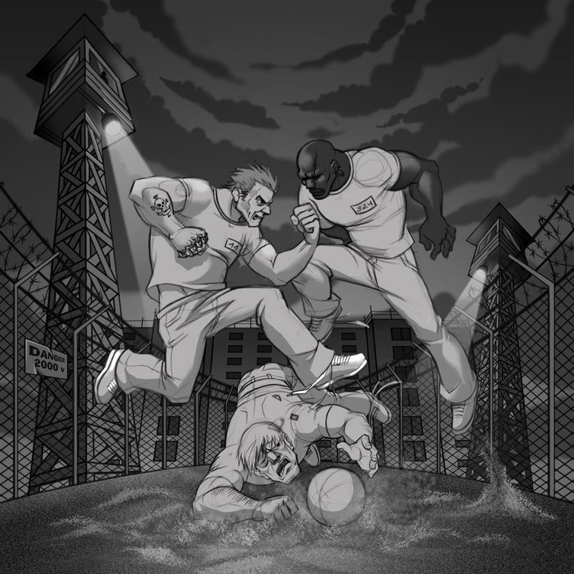 Prison Soccer by Okha
