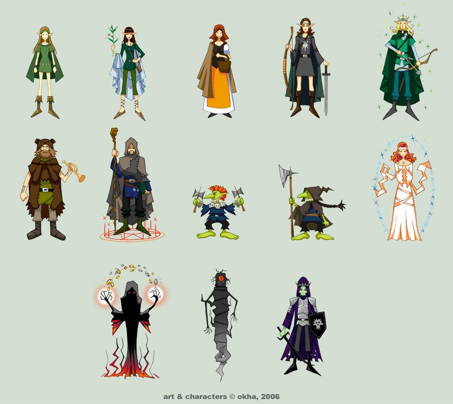 'RPG-romance' - characters by Okha