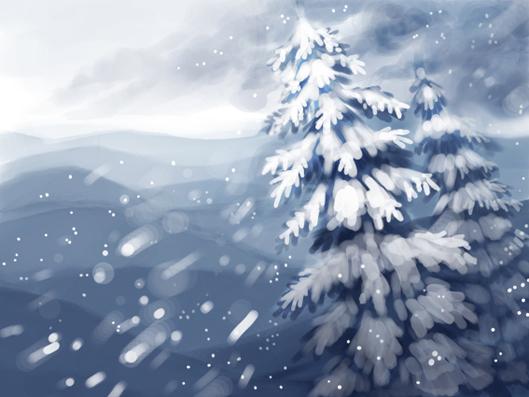 winter speedpainting by Okha