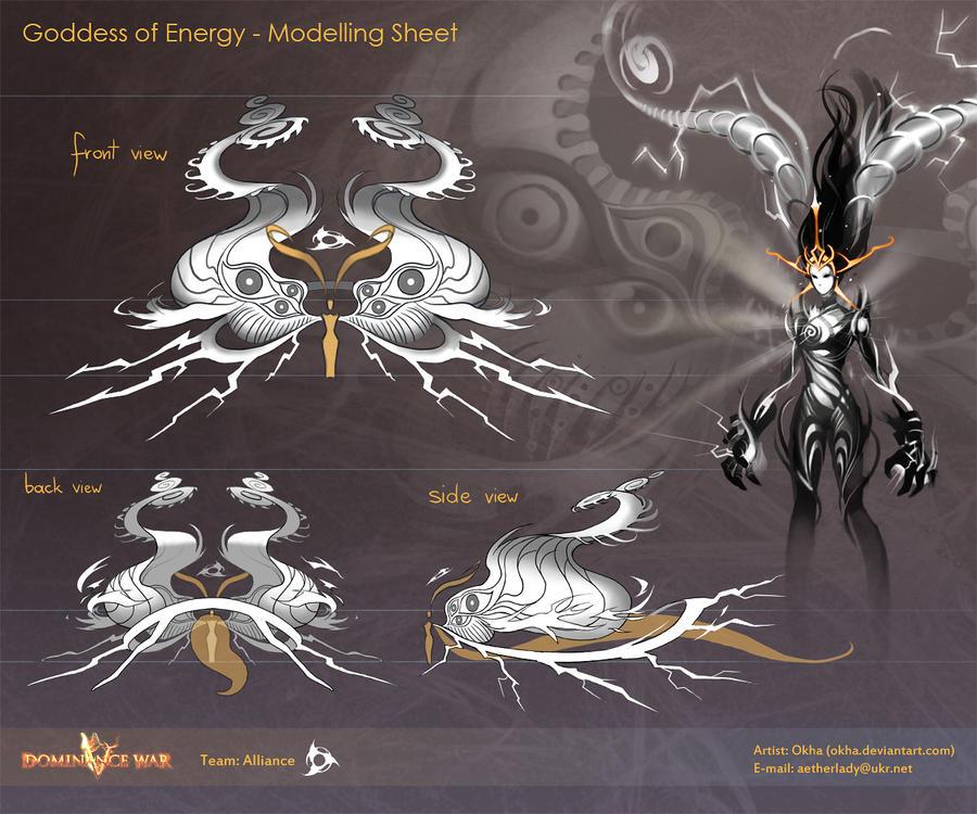 Goddess of Energy 2 by Okha
