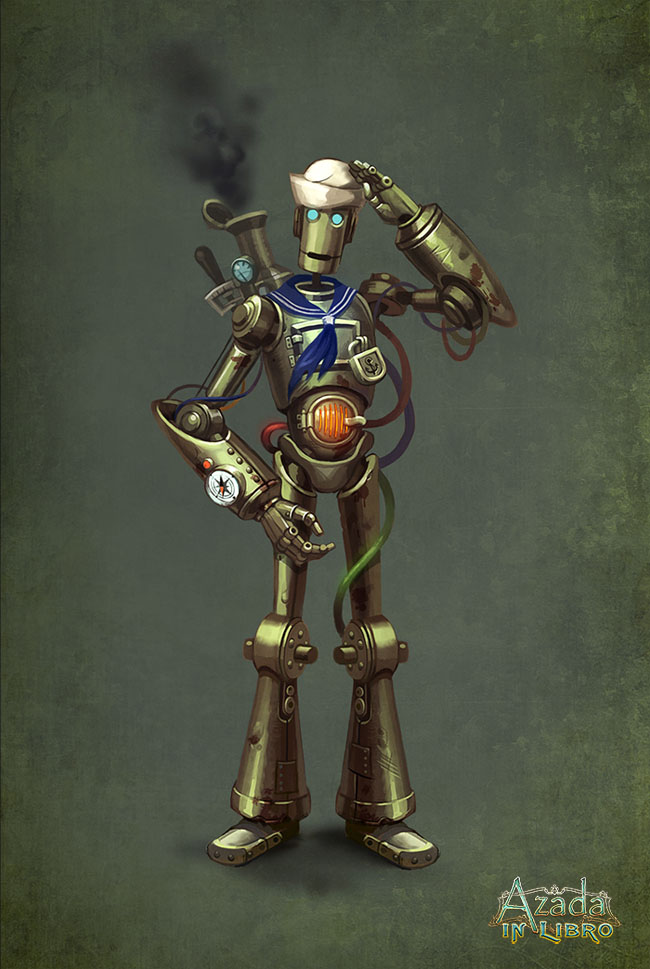 Azada - robot sailor by Okha