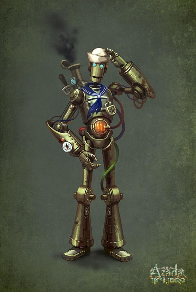 Azada - robot sailor by Okha