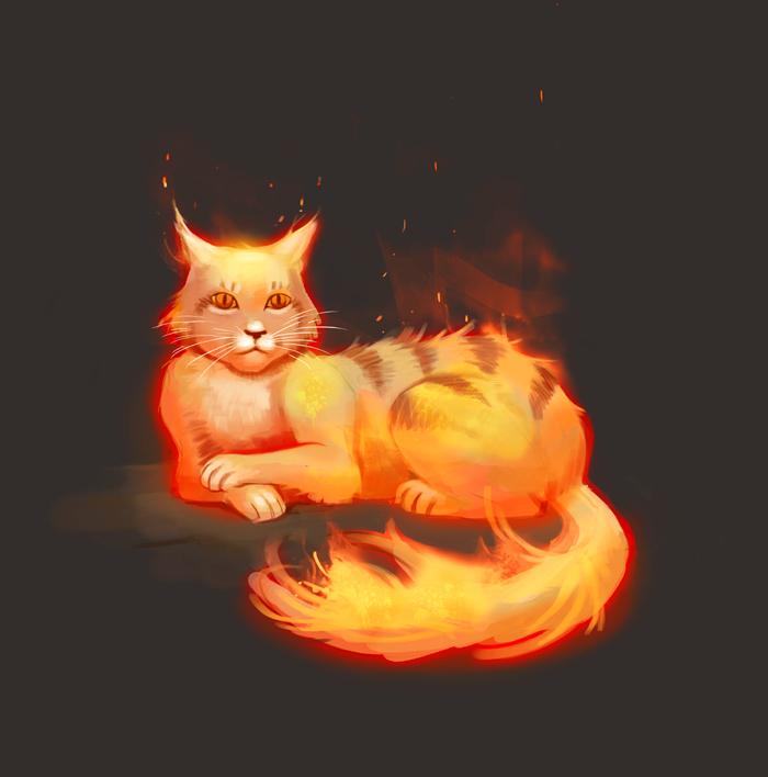 Fire Cat by Okha