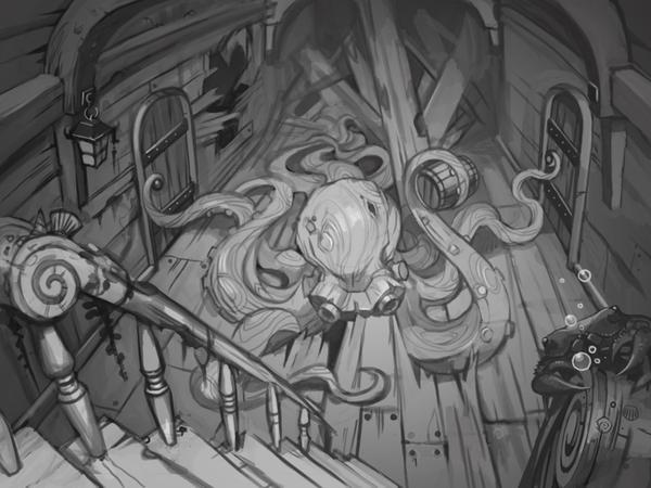 Wooden octopus by Okha