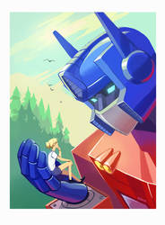 Optimus and Alice by Okha