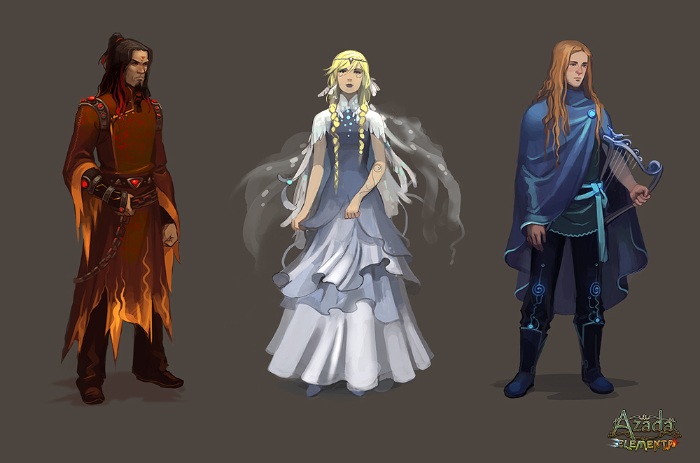 Elemental mages by Okha