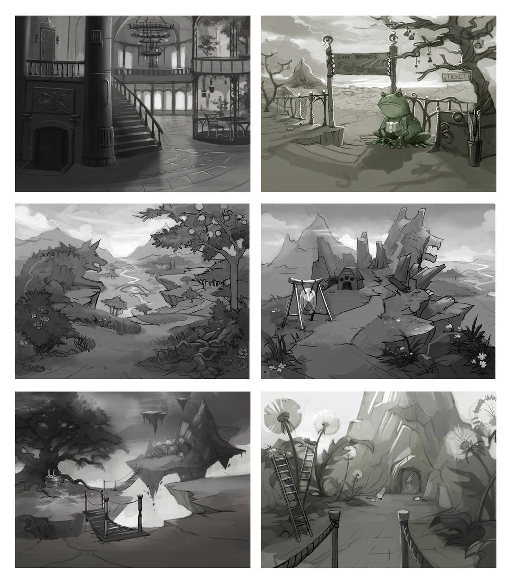 Azada Backgrounds by Okha