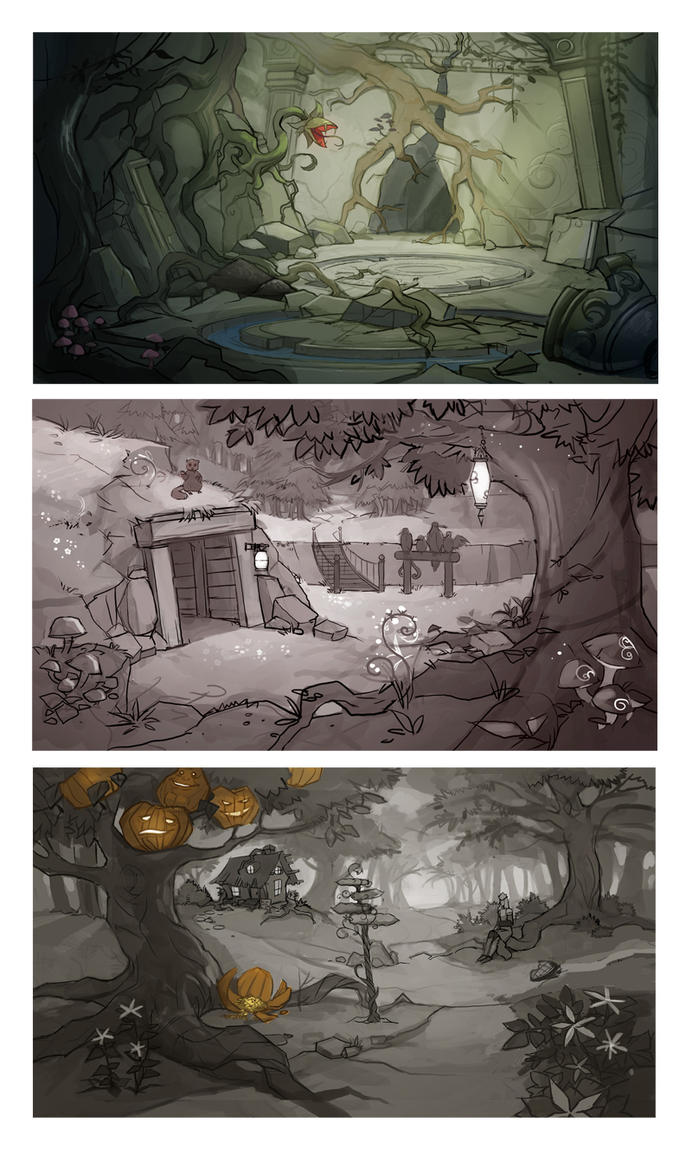 Location sketches 2 by Okha