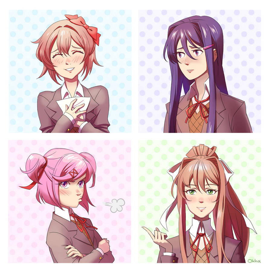 Doki Doki Literature Club by Okha