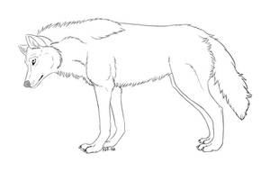 Wolf lineart / Free by REF-Ish