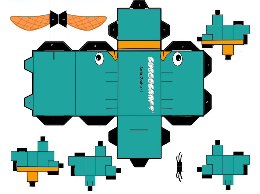 Cubeecraft Perry El Ornitorrinco Imagui